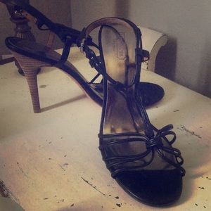 Coach black leather Strappy Lanaa heels